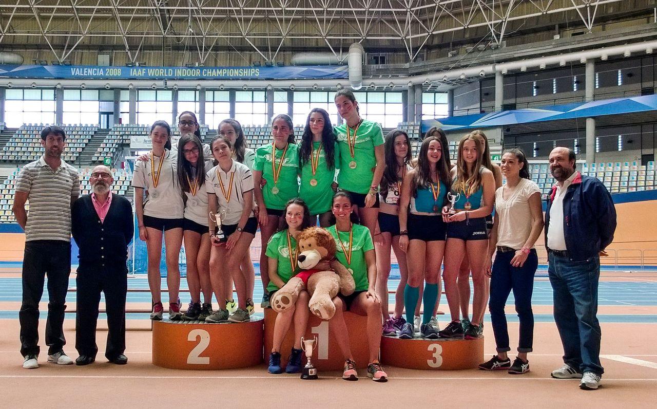 Foto de Podio para La Rioja en el Campeonato de España 'Divirtiéndose con el Atletismo'