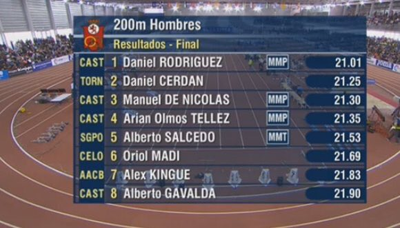 Foto de Manuel De Nicolás, bronce y récord de españa