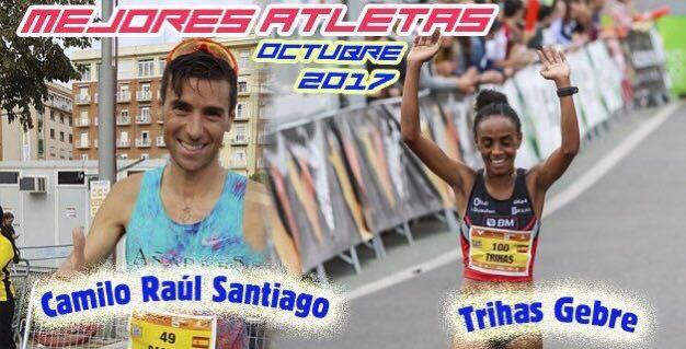 Foto de Camilo Santiago, mejor atleta español del mes de Octubre